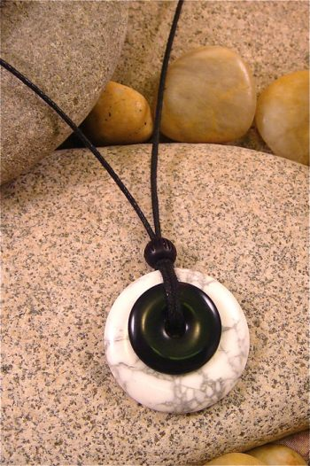 Howlite and Black Jasper