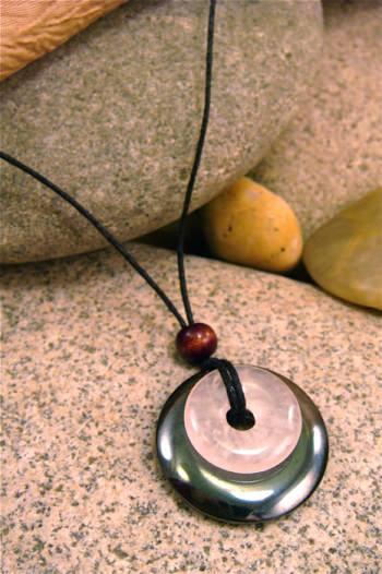 Hematite and Rose Quartz